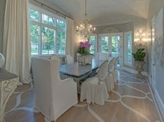 A Houston home with French Country flair (Formal dining room of the Pink Ribbon House designed by Trisha Dodson)