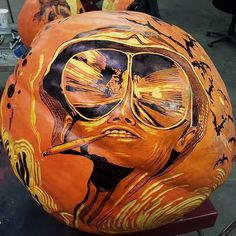 Pin for Later: An Artist Created the Most Insane Jack-o'-Lanterns We've Ever Seen Hunter S. Thompson
