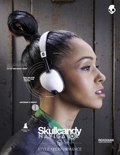 Singer and writer RoXXXan for SKULLCANDY Europe Ad