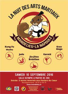 La nuit des Arts Martiaux à Mandelieu-La Napoule