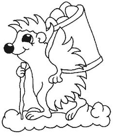 coloring page Hedgehogs on Kids-n-Fun. Coloring pages of Hedgehogs on Kids-n-Fun. More than coloring pages. At Kids-n-Fun you will always find the nicest coloring pages first! Hedgehog Day, Hedgehog Animal, Hedgehog Craft, Coloring Sheets For Kids, Cool Coloring Pages, Animal Coloring Pages, Coloring Pictures Of Animals, Embroidery Patterns, Quilt Patterns