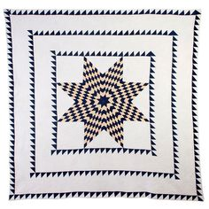 Quilts I dream about:   Lone Star Quilt at  Stella Rubin - it is from the 1850s