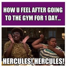 After one day at the gym…