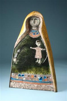 Sculpture, Mother and Child. Designed by Rut Bryk for Arabia