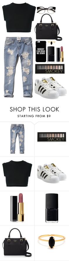 """""""Untitled #79"""" by francienne ❤ liked on Polyvore featuring Abercrombie & Fitch, Forever 21, adidas Originals, Chanel, NARS Cosmetics, Kate Spade and Bing Bang"""