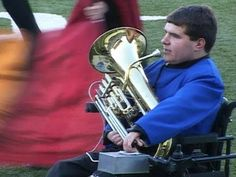 Thanks to some ingenious assistive technology, this high school student played euphonium in his school's award-winning marching band from his wheelchair.