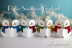 These winter crafts have nothing to do with Christmas which makes them perfect for craft night with the entire family. Make these winter crafts this year with our tips and tricks. Paper Christmas Decorations, Christmas Paper Crafts, Easy Paper Crafts, Christmas Projects, Winter Christmas, Holiday Crafts, Christmas Holidays, Christmas Ornaments, Christmas Snowman