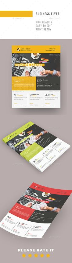 Elegant Business Flyer  — PSD Template • Only available here ➝…