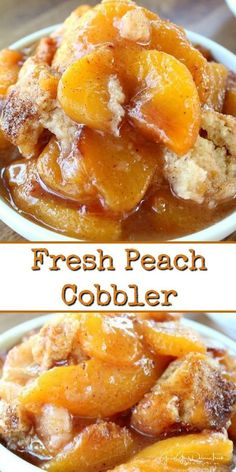 fresh peach cobbler is a classic dessert recipe, loaded with fresh peaches with a delicious crunchy topping.This fresh peach cobbler is a classic dessert recipe, loaded with fresh peaches with a delicious crunchy topping. Southern Peach Cobbler, Fresh Peach Cobbler, Fresh Peach Recipes, Fruit Cobbler, Apple Crisp Recipes, Cobbler Topping, Peach Recipes Breakfast, Peach Cobbler Recipes, Classic Peach Cobbler Recipe