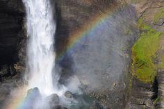 Háifoss (High Falls) is Iceland's second highest waterfall