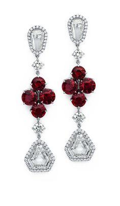 Ruby & Diamond Drop Earrings #jewelry #finejewelry #diamonds #ruby #earrings #luxury #MartinKatz #MartinKatzJewels