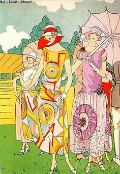 1979 Vintage ART DECO Fashion Print 1924 DRECOLL, MADELEINE Art, Gout, Beaute