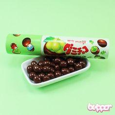 Meiji Gummy Choco - Green Grapes