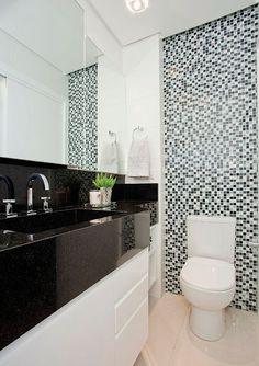 banheiros com granito preto - Pesquisa Google