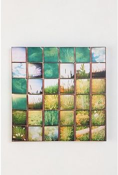 DIY Urban Outfitters wall art - would look cool with vacation photos by Sirkka