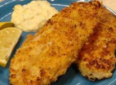 I came across lemon pepper Panko crumbs in the store, thinking hmmm, what can I do with this? Voila, Lemon Pepper Panko Crusted Fish that's ready in 30 minutes! Air Fryer Fish Recipes, Air Fry Recipes, Fried Fish Recipes, Cooking Recipes, Fish In Air Fryer, Cooking Fish, Whole30 Recipes, Easy Recipes, Fish Dishes