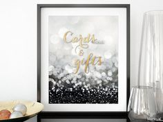 Wedding reception decoration: cards and gifts by blursbyaiShop