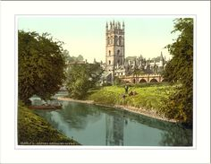 Magdalen Tower from the river, Oxford, England