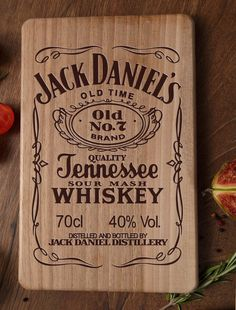 Cutting Board Jack Daniels Jack Daniels decor by ArtWoodenBoard