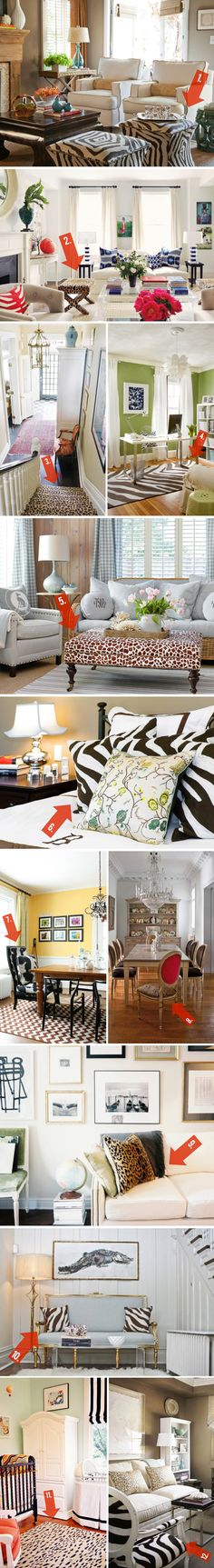 12 easy and stylish ways to incorporate animal print into your home. via @HomeGoods and @Michael Dussert Dussert Wurm, Jr. {inspiredbycharm.com}
