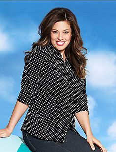 Infuse some fun into your wear-to-work or weekend wardrobe in our Perfect button-down shirt with playful polka dots and 3/4 sleeves. Smooth cotton sateen shirt offers flattering structure with contoured seams, collar and buttoned cuffs. Finished with a trimmed placket, you'll reach for this versatile piece again and again. lanebryant.com
