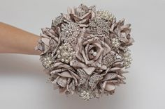 brooch bouquet wedding bouquet paper flower by FlowerDecoration, $100.00