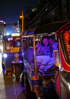 Experience cool breeze in Bangkok at night by cruising on a Tuk Tuk and hopping food stops with Best Eats Midnight by Tuk Tuk at Bangkok Food Tours!