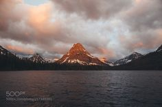 Sunrise at Two Medicine Lake by imbradenolsen. Please Like http://fb.me/go4photos and Follow @go4fotos Thank You. :-)