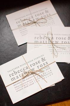 wedding invitation idea; photo: Melissa Robotti Photography
