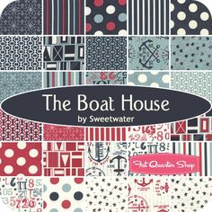 """The Boat House Charm PackSweetwater for Moda Fabrics - Charm Packs & 5"""" Squares   Fat Quarter Shop"""