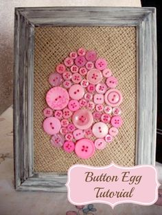 Button Crafts: Button Egg Tutorial Do you love button crafts? Then come see my Button Egg tutorial - a craft that is just in time for Spring! Easter Activities, Preschool Crafts, Crafts For Kids, Diy Crafts, Food Crafts, Fabric Crafts, Easter Projects, Easter Crafts, Easter Decor