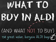 With so many people switching their supermarket swap over to Aldi from one of the 'big' supermarkets I thought it would be handy to put together a what to buy in Aldi list along with a few notes on what not to buy in Aldi. These are just a few of our favourite must-haves which …
