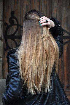 Long straight omber hair #gorgeoushair