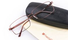 34a88b8367 Poesia 7702 Stainless steel/ZYL Mens Full Rim Optical Glasses(M.Brown). Ray  Ban ...