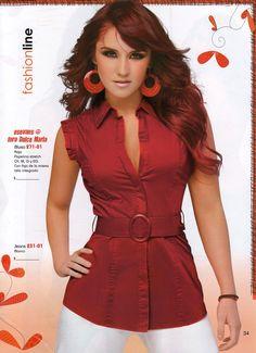 blusa+roja+larga.jpg (797×1100)