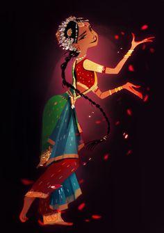 Dancing girl cartoon animation 33 ideas for 2019 Indian Illustration, Car Illustration, Indiana, Art Indien, Character Art, Character Design, Character Inspiration, Art Mignon, Indian Classical Dance