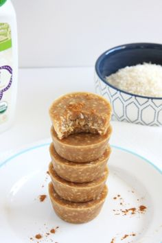 Fudgy Coconut Tahini Bites // 24 Carrot Life #glutenfree #vegan #paleo (use stevia instead of syrup)