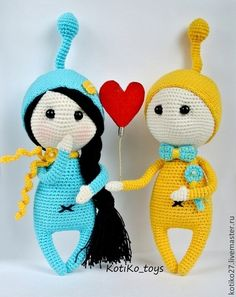 Чулпанопарочка - бирюзовый,подарок девушке,подарок паре,кукла ручной работы