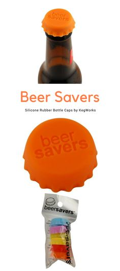 Silicone bottle caps designed to help keep beer fresh and safe!