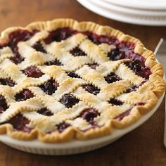 With only 30 minutes of prep time, you will love this Raspberry Pie! More of our all-time favorite pie recipes: http://www.bhg.com/recipes/desserts/pies/best-pie-recipes/?socsrc=bhgpin07171raspberrypie=10