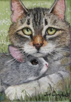 """""""Closely Related"""" original fine art by Joy Campbell   OIL"""