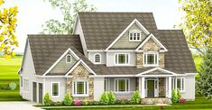 Attractive and Exclusive Traditional House Plan with First Floor Master - 870037DRM | Architectural Designs - House Plans