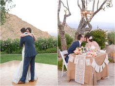 Stunning Navy and gold vintage inspired outdoor Copperwynd wedding in Phoenix, Arizona