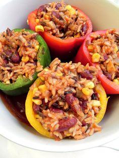 Vegan stuffed peppers