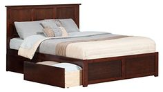 Madison King Flat Panel Foot Board w/ 2 Urban Bed Drawers Antique Walnut Review https://woodbunkbedsforkids.info/madison-king-flat-panel-foot-board-w-2-urban-bed-drawers-antique-walnut-review/