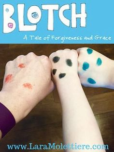 Blotch is a devotional for children that breaks down sin, forgiveness, and grace in an easy to understand story. Even the very young can understand salvation and grace through Blotch's tender telling. Kids Church Lessons, Youth Lessons, Bible Lessons For Kids, Object Lessons, Primary Lessons, Devotions For Kids, Bible Crafts For Kids, Bible Study For Kids, Fun Crafts