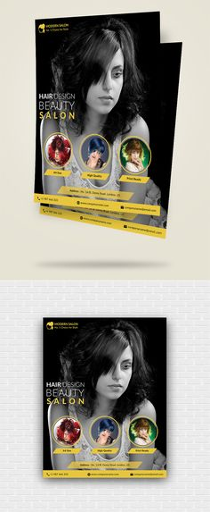 Check out new work on my @Behance portfolio  - hair salon flyer template