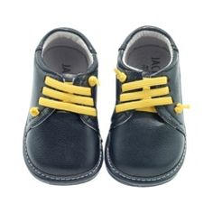 Jack and Lily Infant Boys Lace Shoes - Navy/Yellow