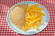 Knitting & Crochet Pattern for a Cornish Pasty and Chips by Bottletopboy, £2.25