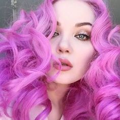 'Cupid', my go-to pink! Rose Gold Hair, Blue Hair, Pink Hair, Creative Hair Color, Cool Hair Color, Hair Colour, Lime Crime, Dyed Hair Pastel, Pastel Goth